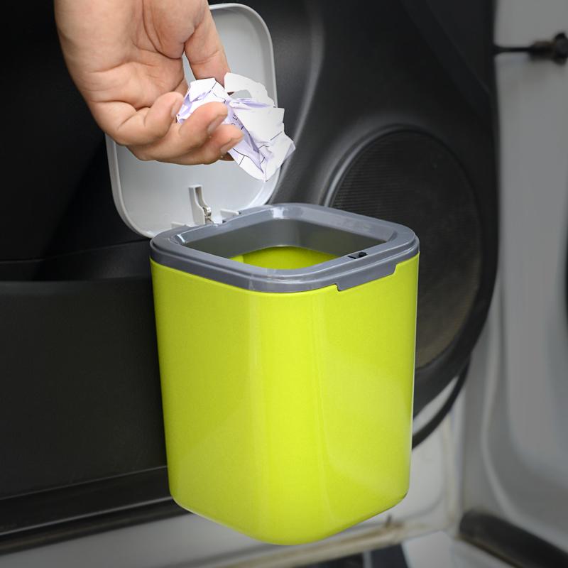 汽车载垃圾桶车内用品迷你创意时尚可爱小号挂式多功能收纳垃圾袋