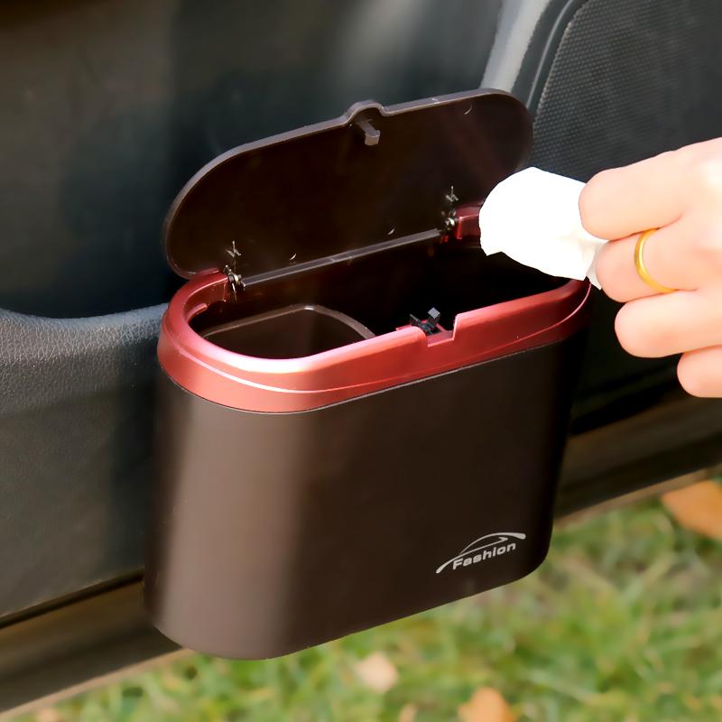 汽车挂式垃圾桶车内置物桶创意多功能车载垃圾桶烟灰缸车用垃圾箱