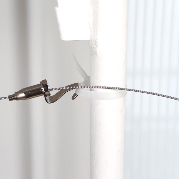 可意大学生床用上铺上下铺高低床挂床帘挂蚊帐用2米长钢丝绳挂钩