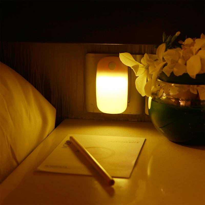 led插电迷你感应小夜灯起夜卧室床头护眼节能照明客厅楼道开关灯