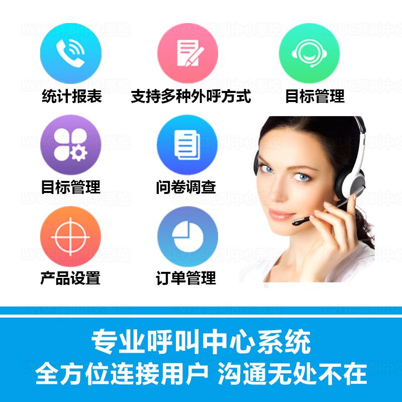 呼叫中心坐席专用客服电话 录音 销售营销外呼 CRM客户管理系统