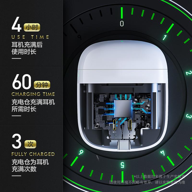 英菲克i12x真无线蓝牙耳机2021年新款高端适用华为苹果oppo小米vivo超长续航typec充电运动型男女士款入耳式