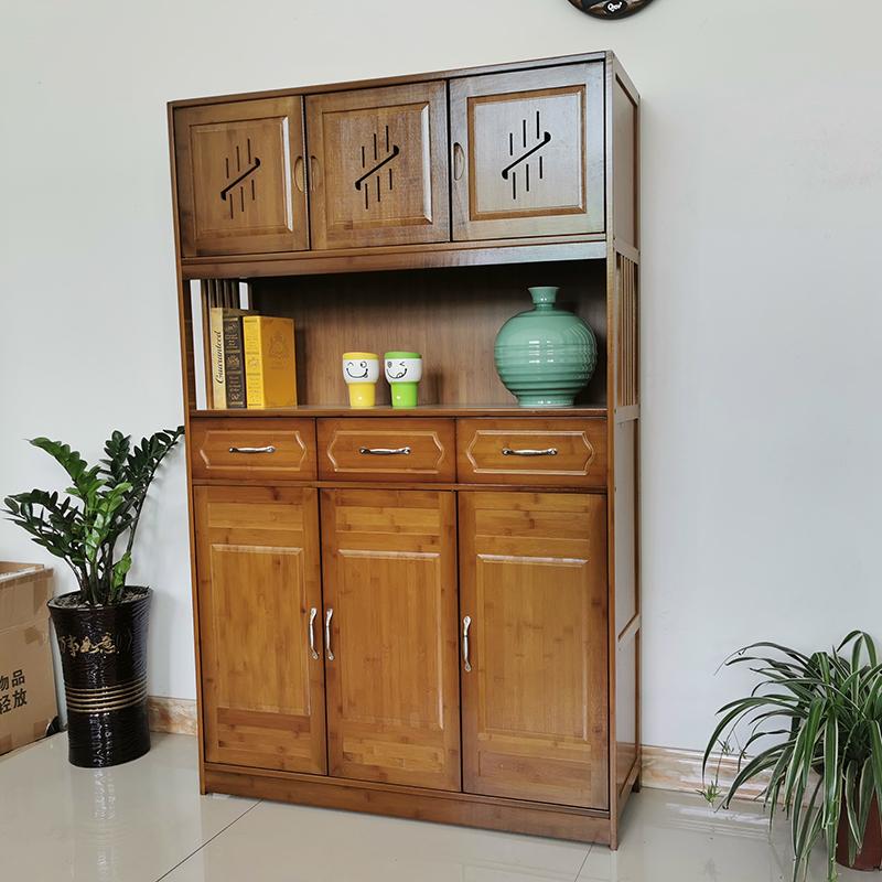 楠竹书柜中式落地书架省空间简约儿童置物架实木收纳架办公室架子