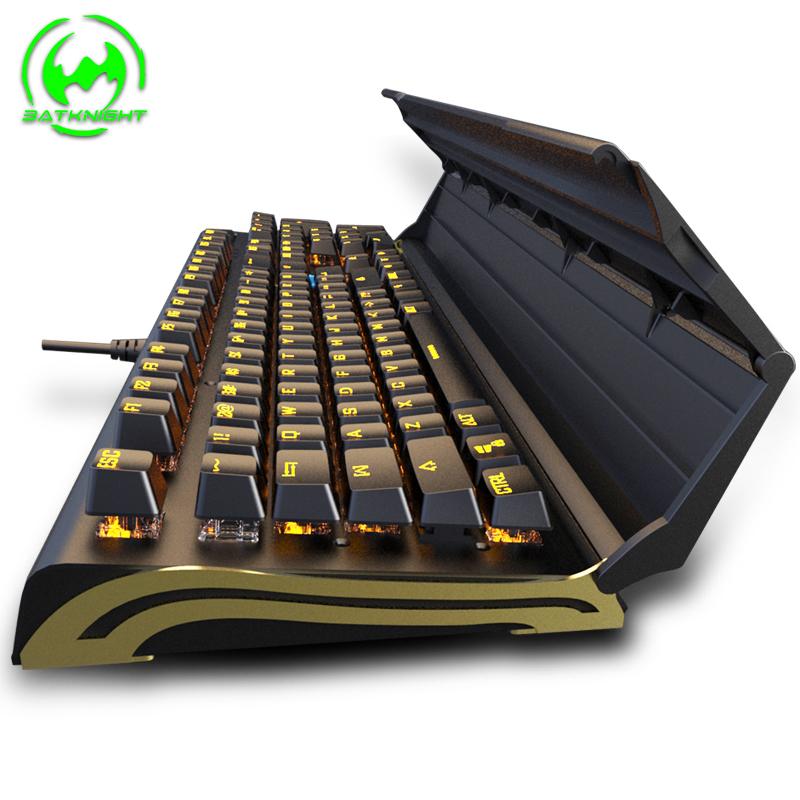 蝙蝠骑士BK518电脑机械键盘樱桃黑青红轴防水电竞游戏吃鸡键盘lol