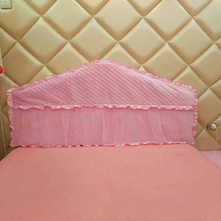 定做欧式布艺床头罩实木皮床头靠背套1.8m1.5m软包防尘保护罩弧形