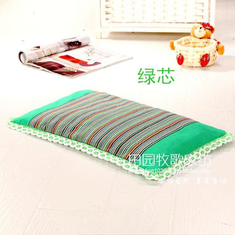 纯棉老粗布婴儿枕头宝宝定型枕荞麦壳儿童小孩护颈枕0-6岁用