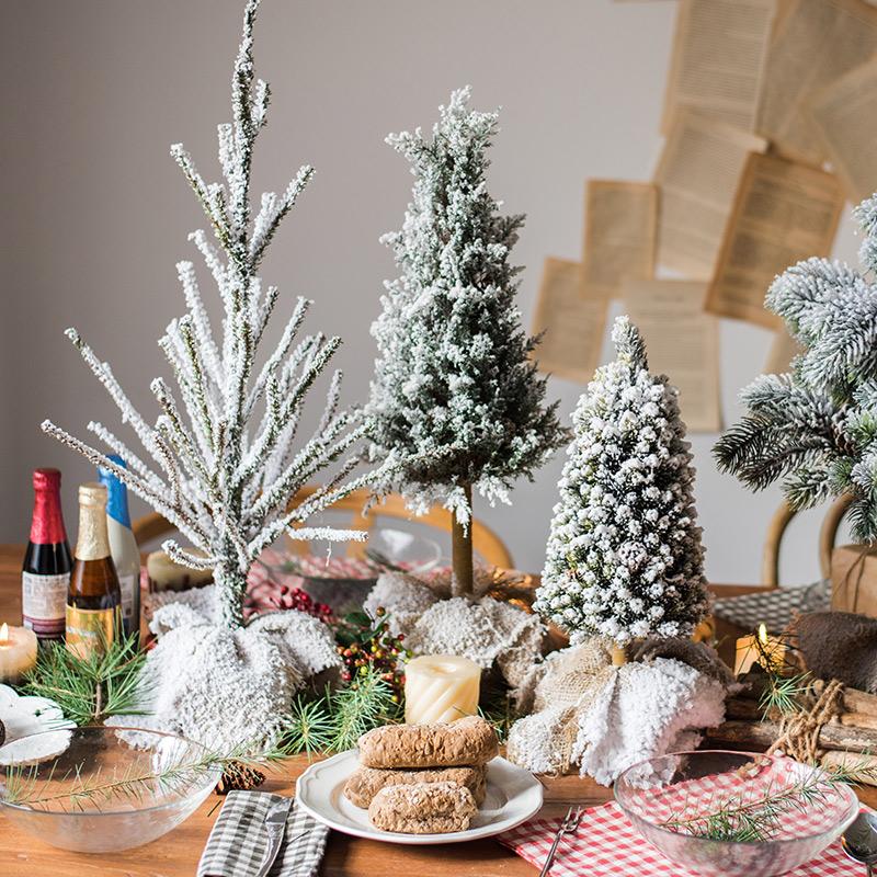 【掬涵】圣诞树节日装饰摆件雪松 橱窗拍摄道具桌面地面圣诞节