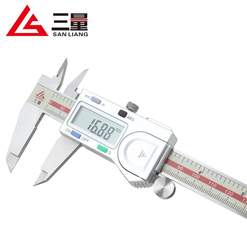 三量量具电子数显卡尺高精度不锈钢数字游标卡尺0-150-200-300mm