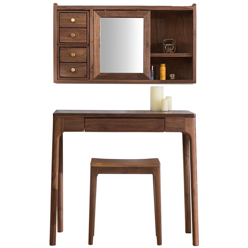 森植 北欧网红ins纯实木梳妆台现代简约卧室小户型化妆桌子多功能
