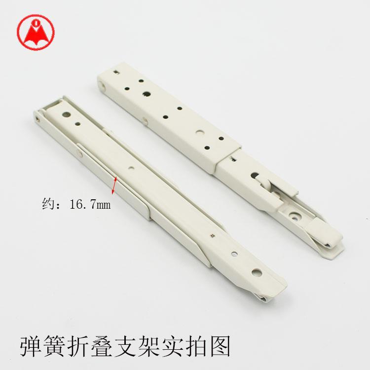 壁挂折叠支架 活动弹簧支架托架 隔板托架货品支撑置物架三角架