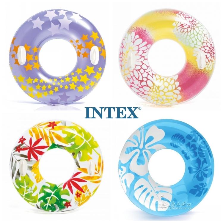 成人充氣游泳圈腋下圈 大人救生圈 胖人浮圈 加大加0厚水泡INTEX