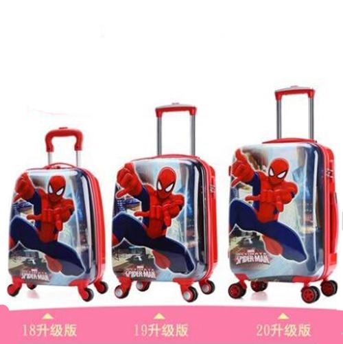 寸拖箱轻 18 寸登机旅游箱学生 20 儿童拉杆箱书包卡通行李箱双面图案