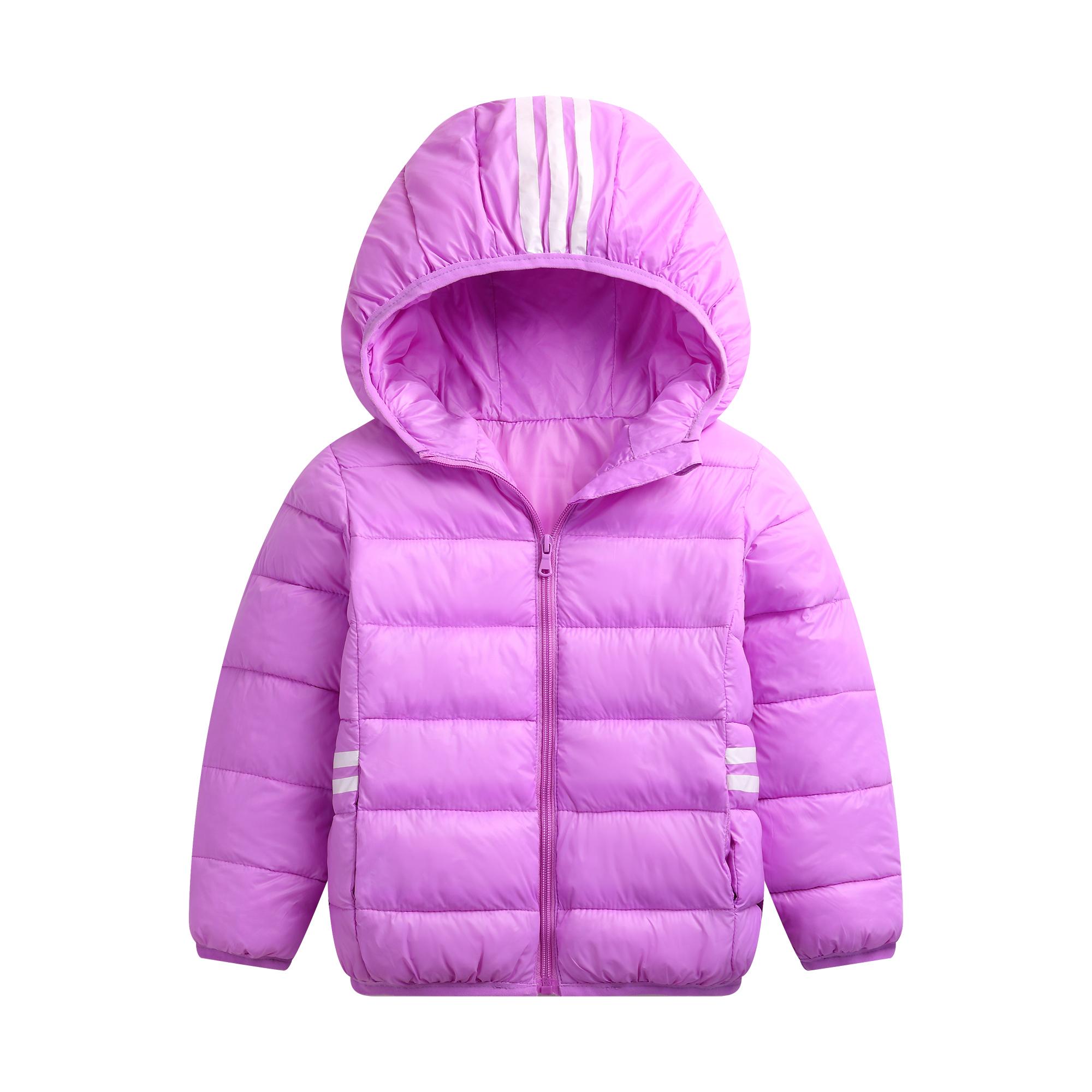 2018新款儿童服轻薄款男女童棉衣 女童棉袄短款 中大童保暖棉外套