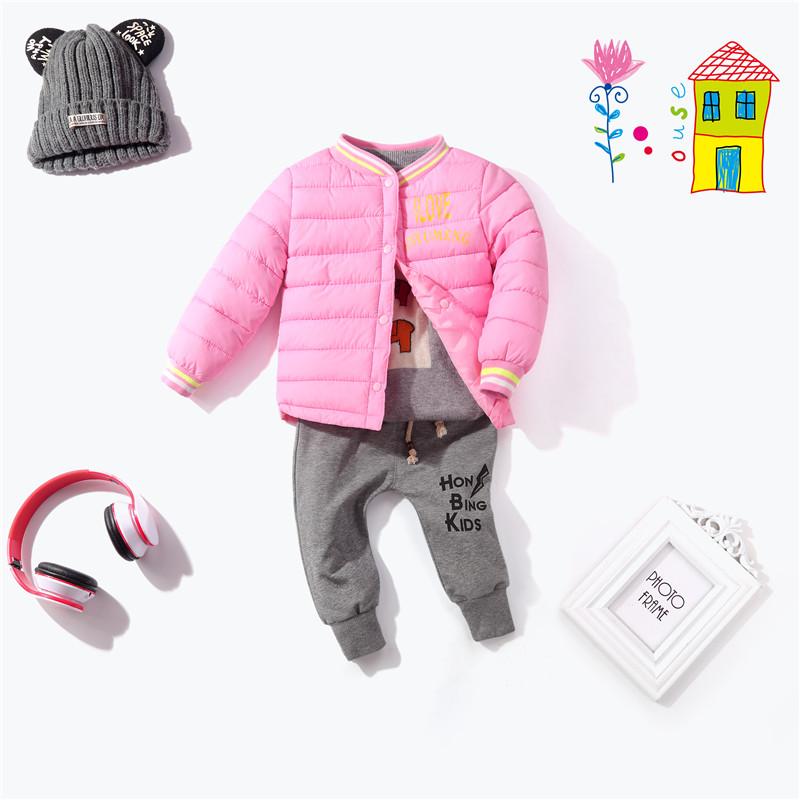 2018新款儿童装棉服短款小孩棉袄中小童男女童宝宝丝棉保暖内胆装