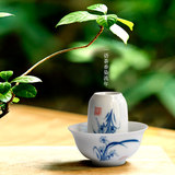 Jingdezhen hand-painted kung fu tea cup single cup of tea blue flower porcelain glaze smell cup cup cup set ceramic