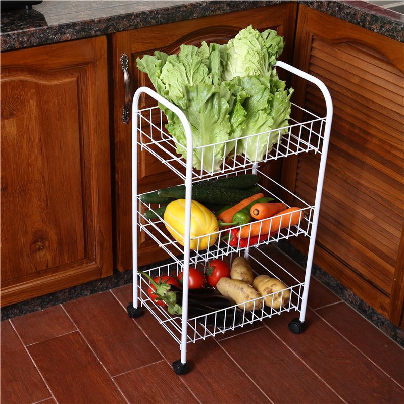 菜架廚房置物架家用蔬菜收納架落地水果蔬菜架子放菜收納多層帶輪