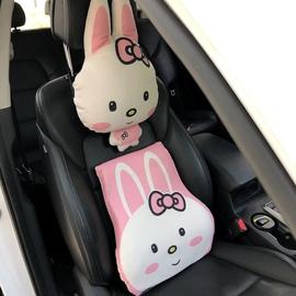 记忆棉腰靠汽车靠枕可爱靠垫女腰枕呆萌卡通动物车内饰品车用品