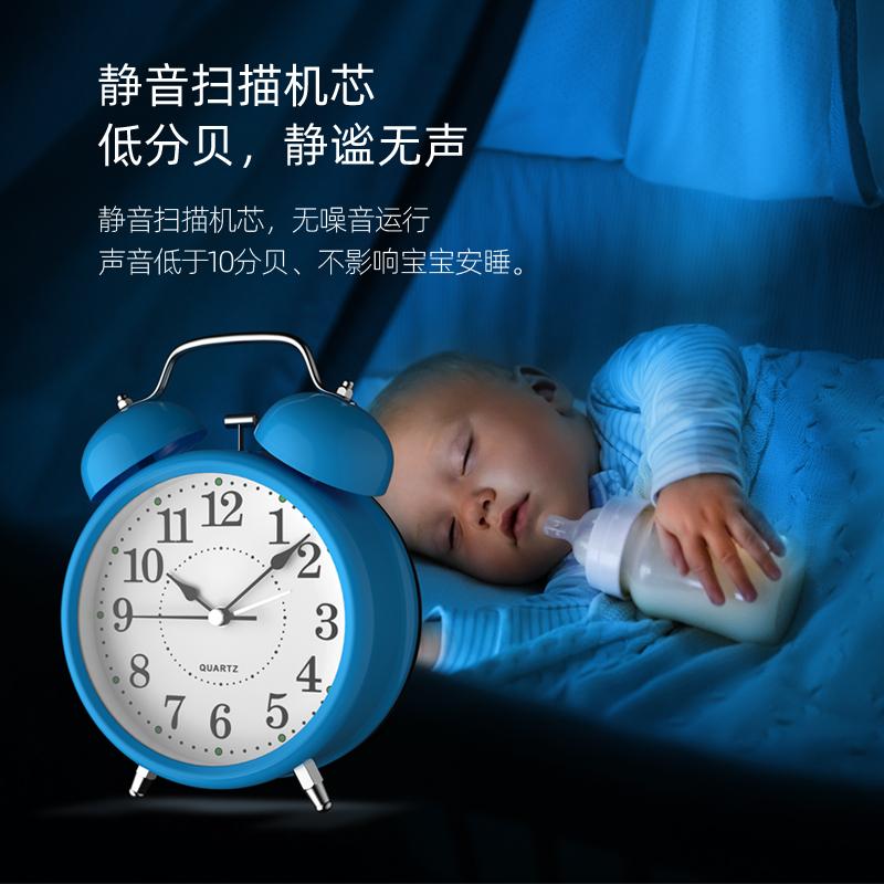 闹钟学生用起床神器2020新款床头小闹铃儿童钟男孩女孩夜光大音量