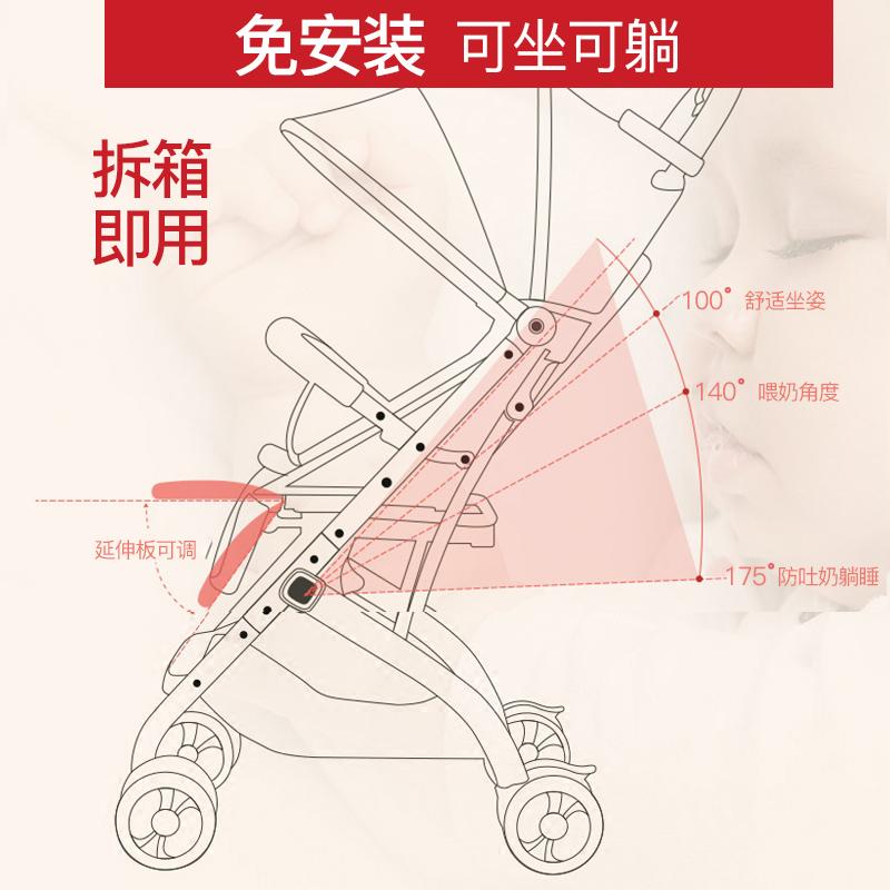 宝宝好婴儿推车QZ1高景观可坐可躺轻便折叠伞车儿童手推车婴儿车
