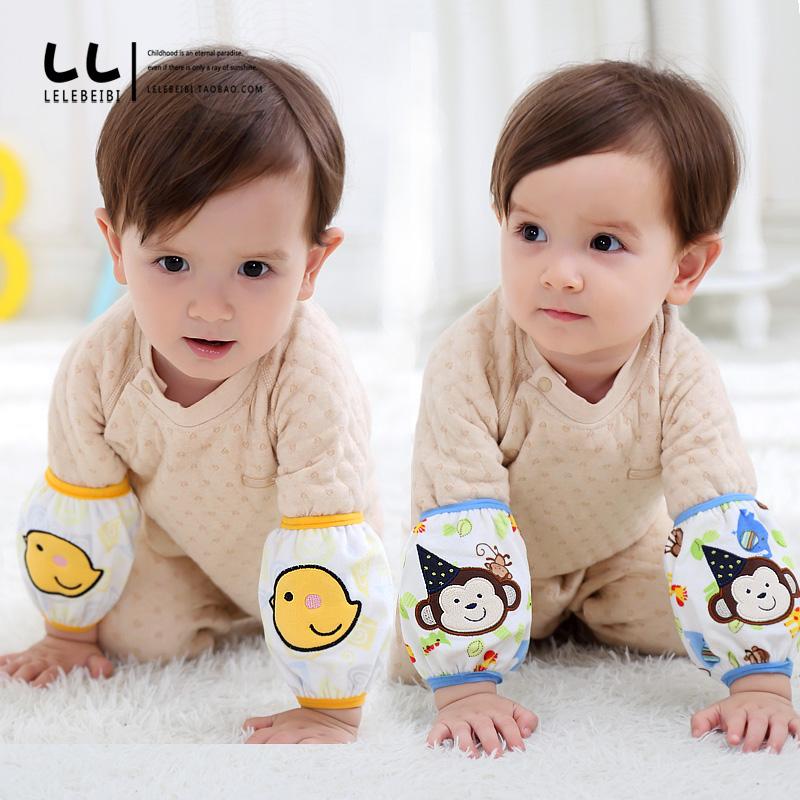 婴儿幼儿童防污卡通毛绒男女宝宝袖套袖短款小孩护袖头可爱秋冬季