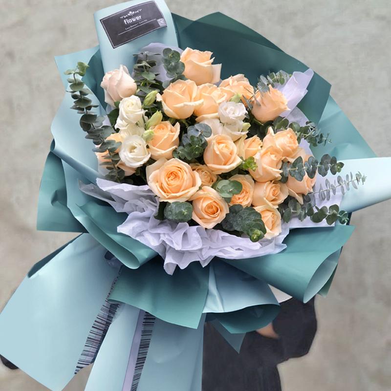毕业季鸡西鲜花速递同城配送生日玫瑰花花束鸡冠虎林密山花店送花