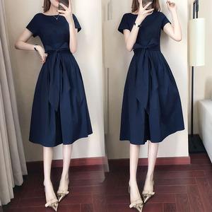 很仙的法国小众连衣裙收腰显瘦2019新款桔梗裙流行夏天裙子女长裙