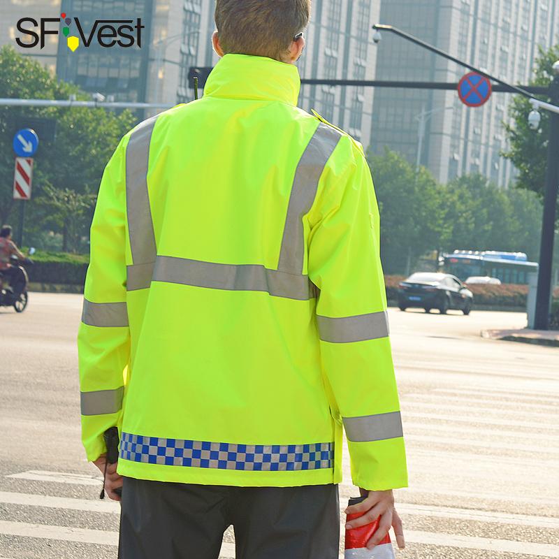 SFVest反光棉衣外套冬季安全棉袄加厚工作服装高速道路交通大衣男