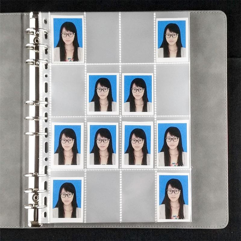 大头贴小相册1寸2寸证件照收纳像片护照签证照片两一寸大容量活页