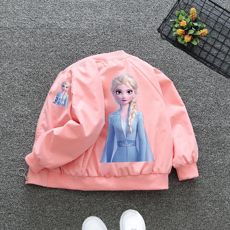 女童薄款外套2021春秋装新款网红中大儿童装女孩公主棒球服潮洋气