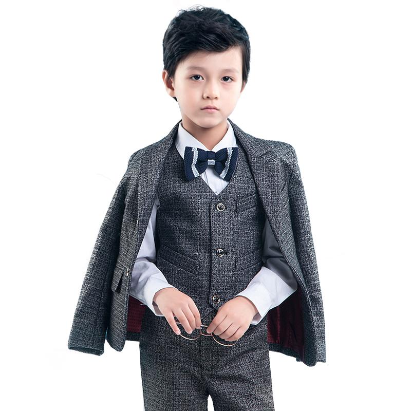清仓儿童西装男童小西服表演服钢琴演出走秀花童礼服套装马甲新款