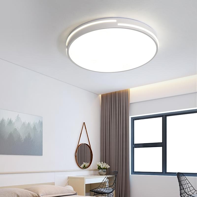 圆形吸顶灯客厅灯简约现代大气家用房间灯书房灯具 LED 壹朵卧室灯