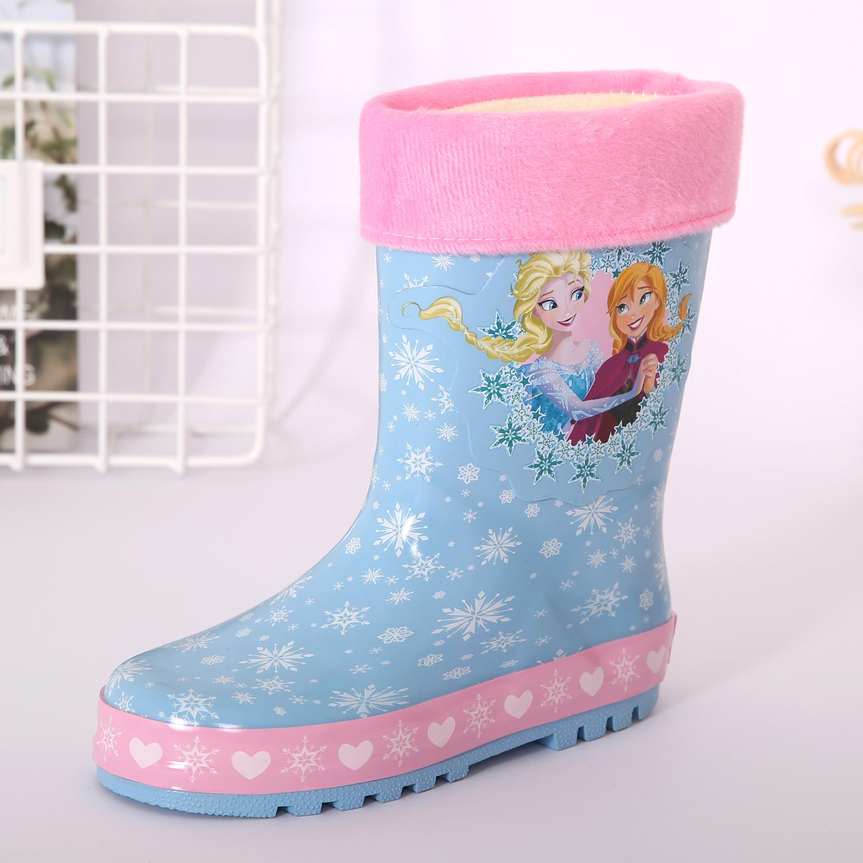 冰雪奇缘可爱儿童女童公主防水橡胶鞋水鞋雨鞋雨靴雨衣四季可穿