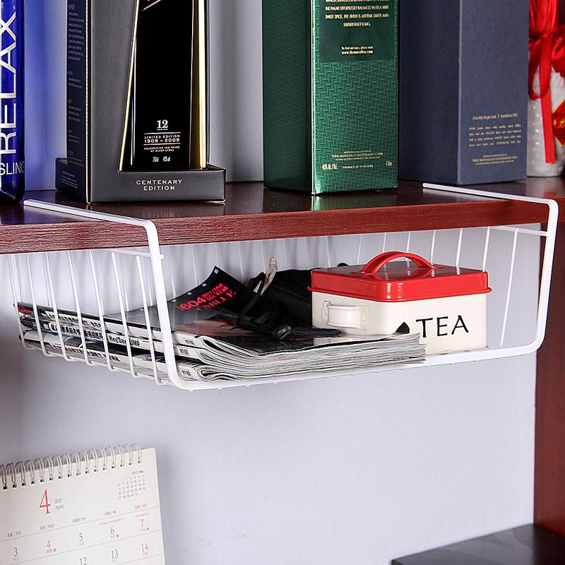 歐潤哲 創意多功能櫥櫃隔板下掛籃 可疊加辦公桌衣櫃收納架整理架