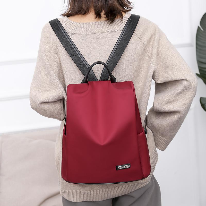 韩版防盗双肩包女2020新款 防水牛津布双肩背包女大容量旅行背包