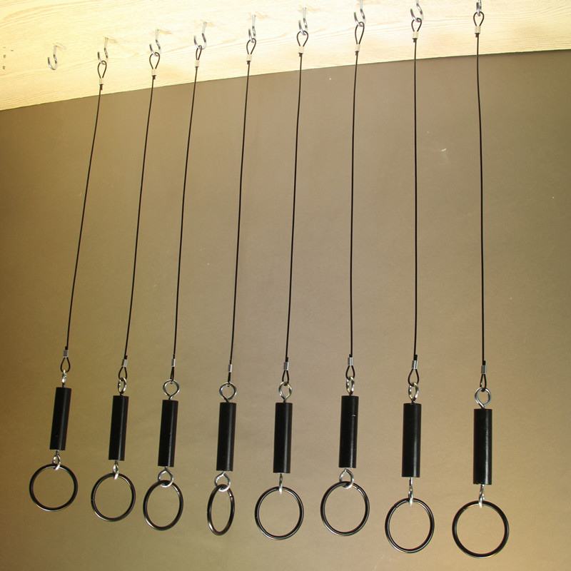 服装店吊环吊挂展示架上墙吊架 复古吊链女装店挂衣服陈列架子