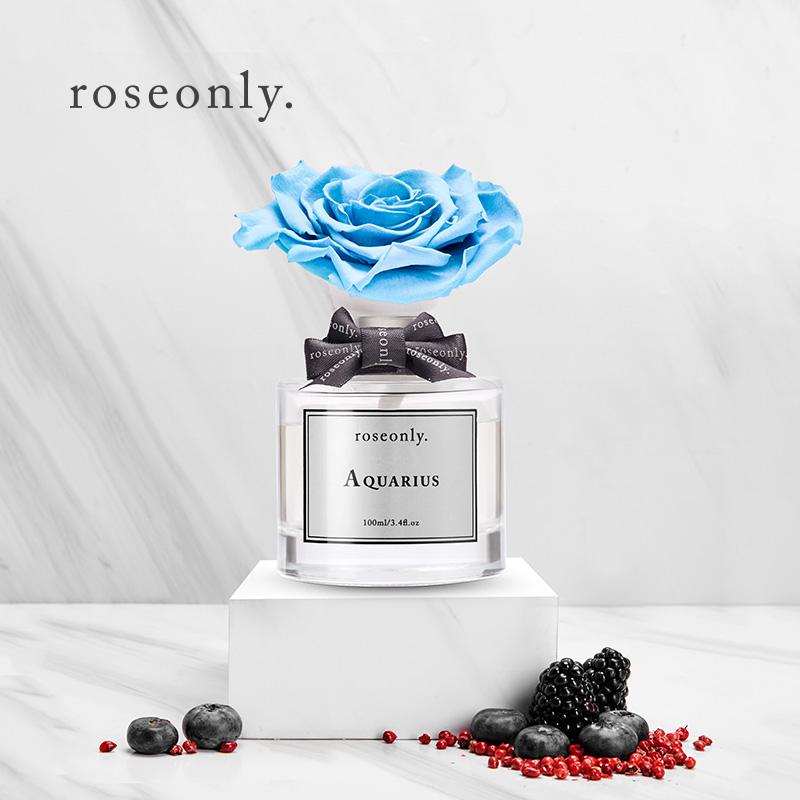 星座玫瑰香氛永生花散香礼物送女友爱人 roseonly 肖战同款