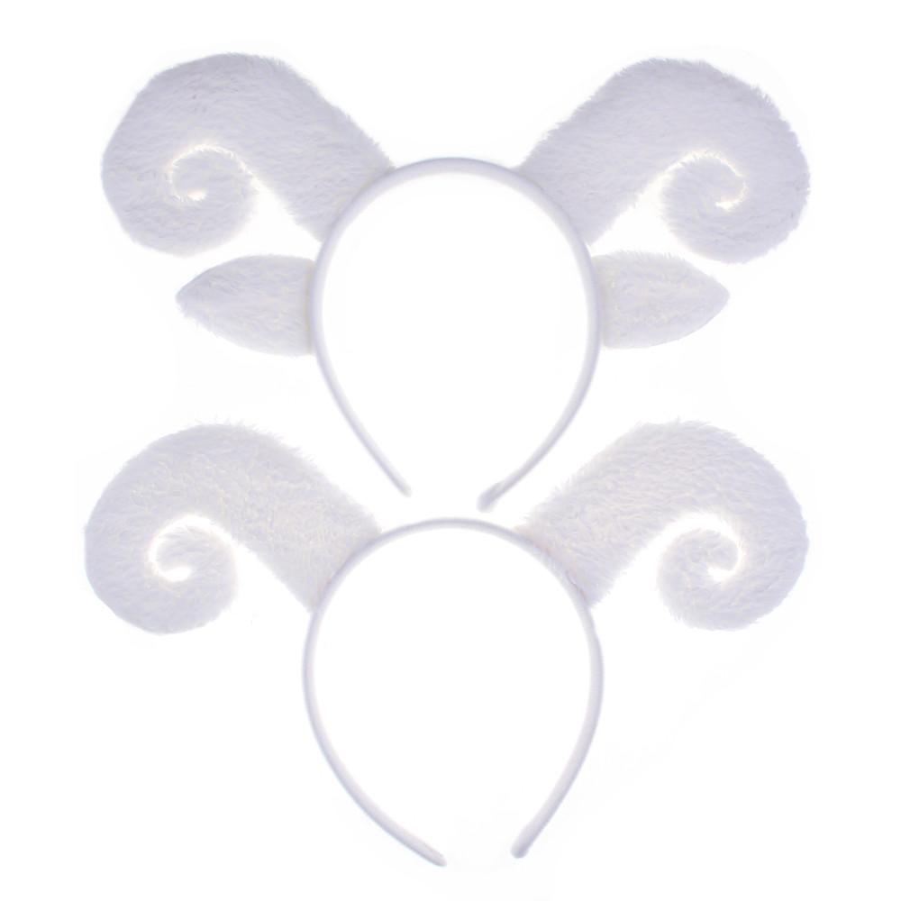 宸涛 万圣节儿童节动物头箍头饰发箍聚会绵羊山羊角发箍羊角头箍