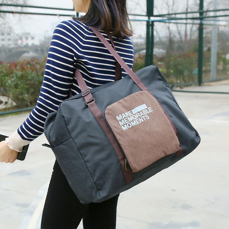 短途旅行袋手提折叠包男女便携轻便行李包防水旅游收纳包可套拉杆