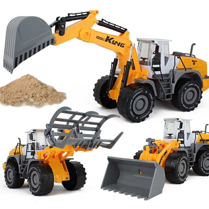儿童大号惯性工程车铲车挖掘机搅拌车钩机挖机垃圾环卫车男孩玩具