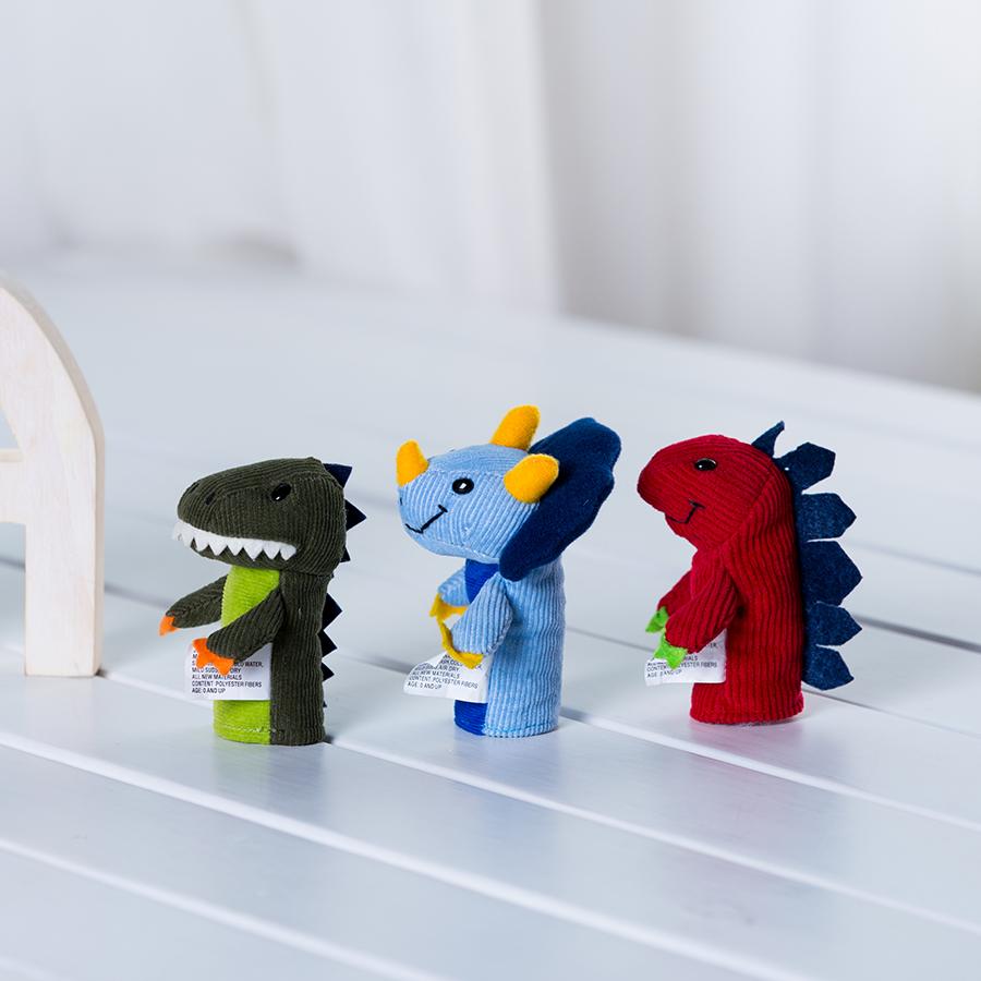 宝宝手偶动物玩偶恐龙霸王龙毛绒益智早教讲故事指偶婴儿安抚玩具