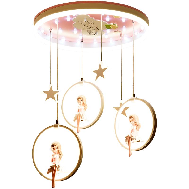 创意个姓公主房灯吸顶灯儿童卧室灯公主女孩可爱北欧灯具儿童房灯