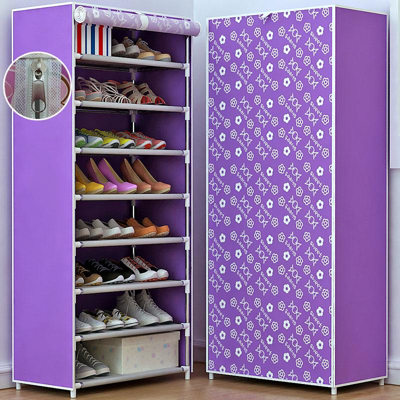 简易家用鞋架多层防尘组装经济型省空间宿舍门口鞋柜收纳小鞋架子