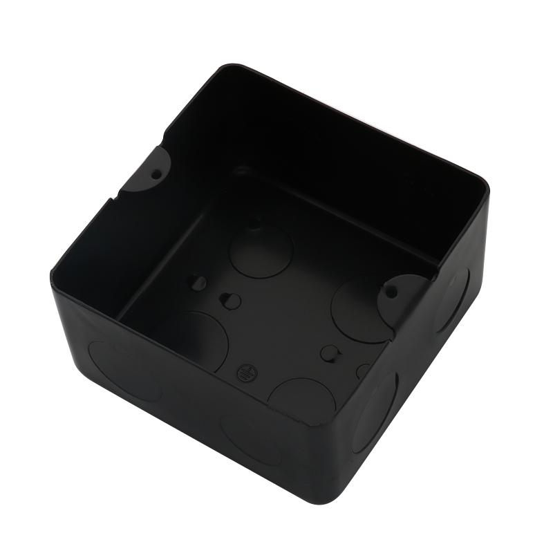 地插底盒10x10黑色金属 插座地插底盒暗盒金属地面暗盒高强度加厚