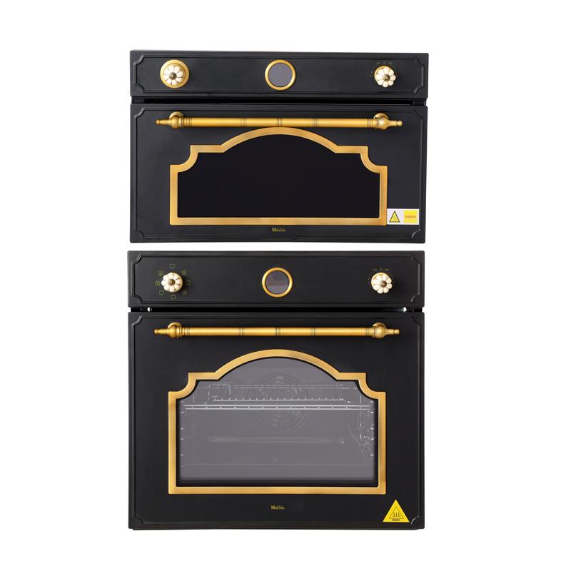 Miecns/美诺仕复古黑色电烤箱电蒸箱组合 内嵌式电烤箱电蒸炉现货