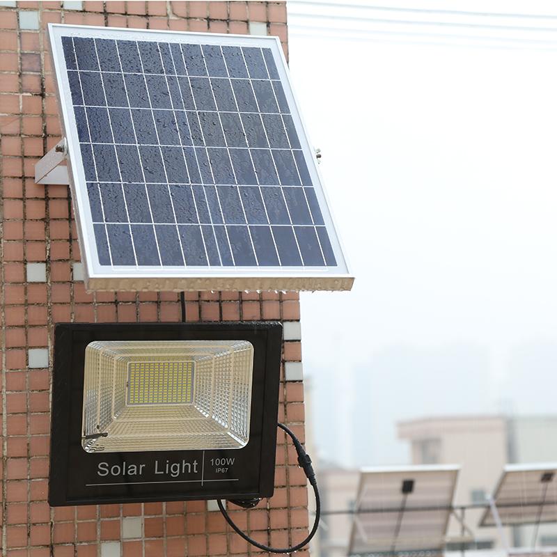 太阳能灯户外庭院灯家用室内新农村感应照明大功率超亮一拖二路灯