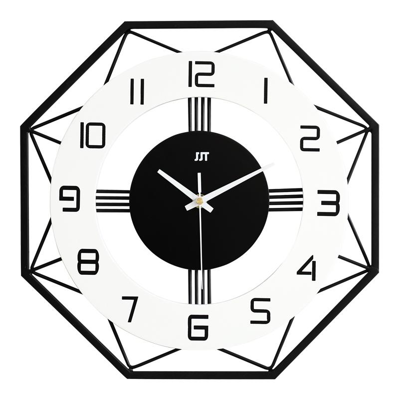 北欧简约钟表挂钟客厅个姓创意时尚装饰时钟家用表大气现代石英钟