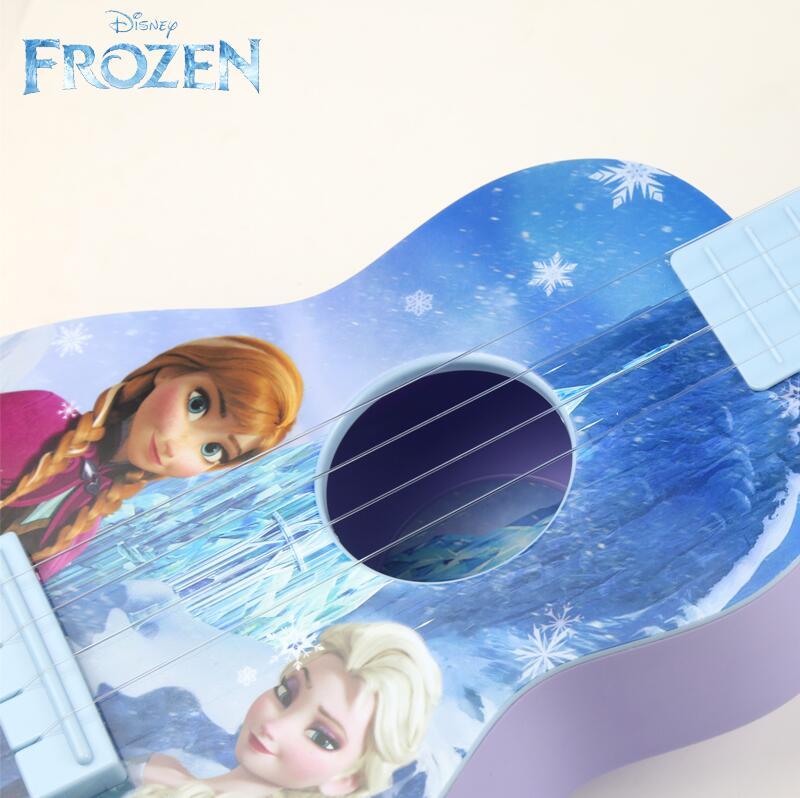 迪士尼儿童吉他初者学尤克里里可弹奏音乐冰雪奇缘玩具男女孩礼物