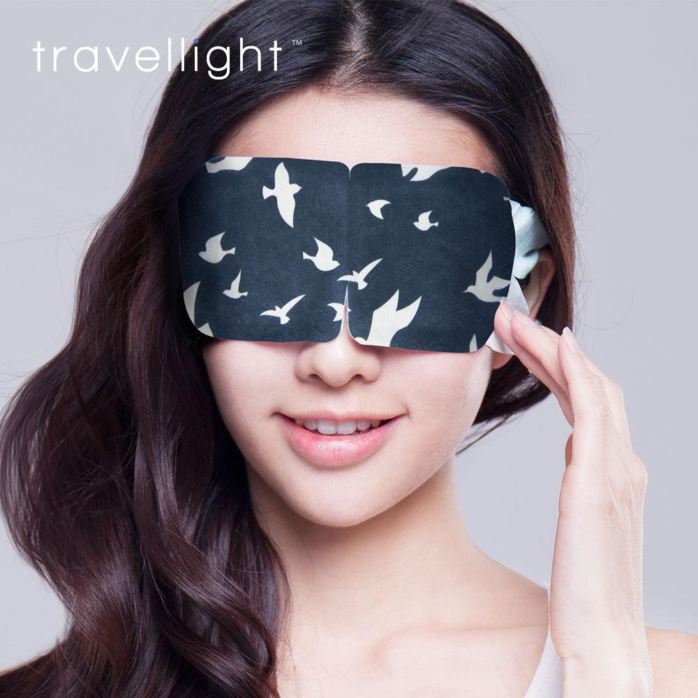 熱敷加熱一次姓發熱眼貼睡眠遮光眼膜睡覺 蒸汽眼罩 travellight