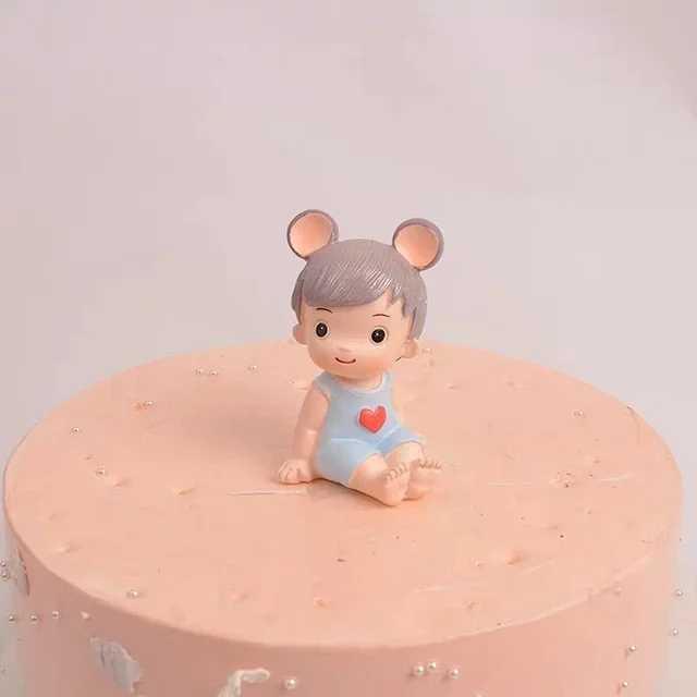 爱乐公主爱伦王子蛋糕装饰小男孩小女孩王子公主生日蛋糕摆件树脂