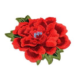 刺绣布贴补丁大号牡丹玫瑰花朵中国风旗袍装饰贴花补衣服图案绣花